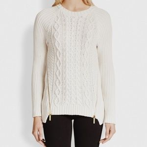 • MICHAEL MICHAEL KORS • cream cable knit sweater